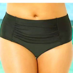 Swimsuits for All Ruched Swim Brief Bottom